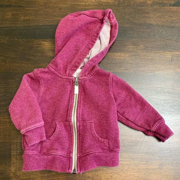 Carter's Other - Carter's Maroon Colored Zip Hoodie